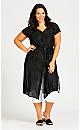 Plus Size Longline Lurex Tunic - black