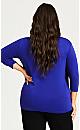 Plus Size Wrap Cami Duet - violet