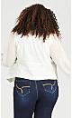 Plus Size Drape Front Blazer - ivory