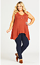 Plus Size Stretch Pull On Pant - navy