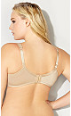 Plus Size Basic Balconette Bra - beige