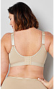 Plus Size Basic Cotton Bra - beige