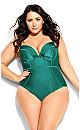 Plus Size Grenada Underwire 1 Piece - emerald