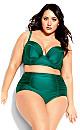 Plus Size Grenada Underwire Top - emerald