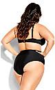 Plus Size Azores Bikini Brief - black