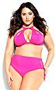 Plus Size Cancun Bikini Tie Brief - fuchsia pink