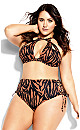 Plus Size Cancun Bikini - tiger print