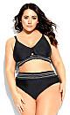 Plus Size Lucia Bikini Top - black
