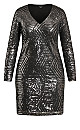 Plus Size Dress Bright Lights - gunmetal