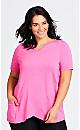 Plus Size Taj Wrap Tunic - pink