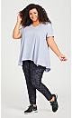 Plus Size Printed Legging - grey