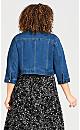 Plus Size Denim Crop Jacket - midwash