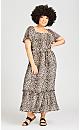 Plus Size Latifa Dress - animal