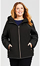 Plus Size Skechers Quilted Jacket - black