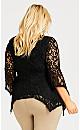 Plus Size Lace Fit & Flare Tunic - black
