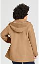 Plus Size Faux Wool Peacoat - camel