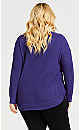 Plus Size Birdseye Sweater - cobalt