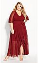 Plus Size Enthral Me Maxi Dress - henna