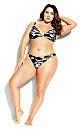 Ingrid Print Bikini Top - black camo