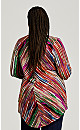 Plus Size Paint Stripe Tunic - multi