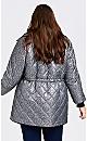 Plus Size Sherpa Reversible Print Coat - animal