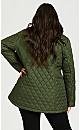Plus Size Reversible Quilted Waist Coat - juniper