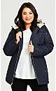 Plus Size Radiance Coat - navy