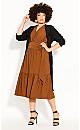Plus Size Next Level Dress - copper