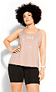 Plus Size Active Tank - dusty pink