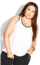 Plus Size Punch It Cami - white