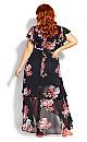 Plus Size Summer Crush Maxi Dress - black