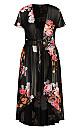 Plus Size Floral Crush Jacket - black