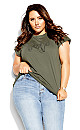 Plus Size With Love Tee - sage