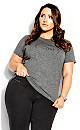 Plus Size All Heart Tee - grey