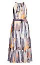 Brushstroke Maxi Dress - mauve