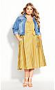 Plus Size Dress Sun Stripe - Sun Stripe