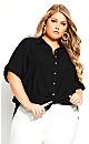 Plus Size Laid Back Shirt - black