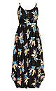 Plus Size Grenada Maxi Dress - black
