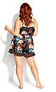 Plus Size Amy Playsuit - black