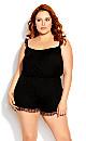 Plus Size Ava Playsuit - black