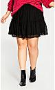 Plus Size Blair Dobby Skirt - black