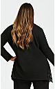 Plus Size Jacey Plain Jacket - black