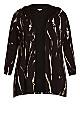 Plus Size Jacey Print Jacket - black