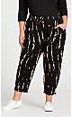 Plus Size Ivy Print Pant - black