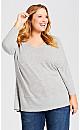 Plus Size Harlow Marle Tunic - gray