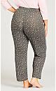 Plus Size Star Hacci Pant - grey star