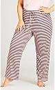Plus Size Brunch Club Sleep Set - pink