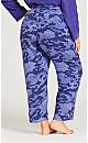 Plus Size Hacci Camo Pant - camo lilac
