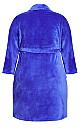 Plus Size Plush Lilac Robe - lilac