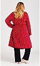 Plus Size Spot Robe - red